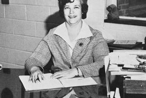 Black and white photograph of Dr. Barbara Fry.