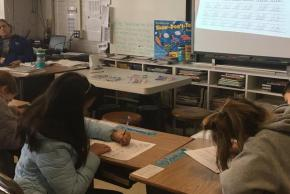 students in the Cursive Writing Elective