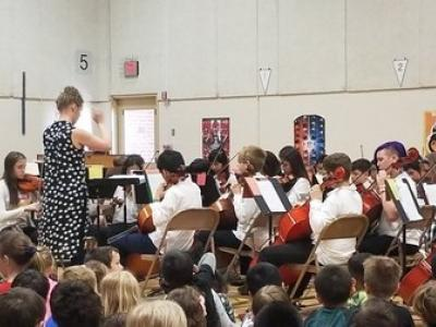 The orchestra concert